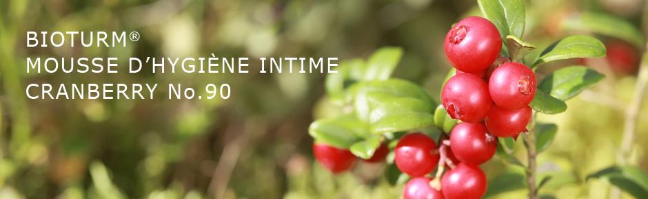 Bioturm Cosmétiques naturels Mousse d'hygiène intime Cranberry n° 90