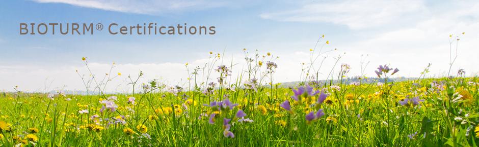 Cosmétiques naturels Bioturm - Certifications